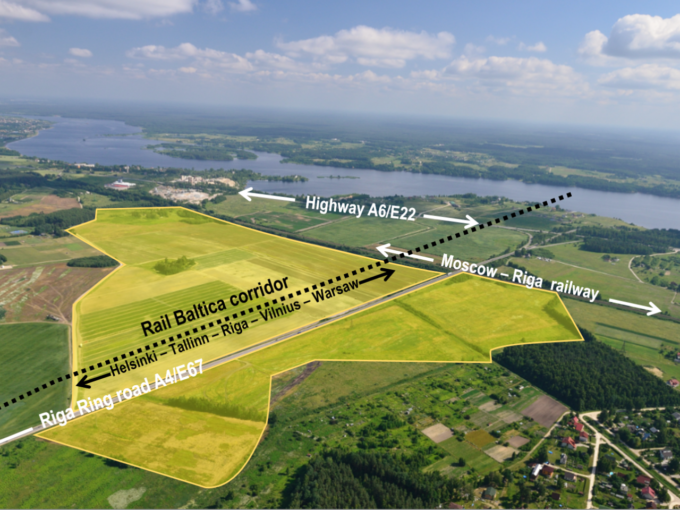 investment invest riga development commercial land in Latvia property real estate in baltic rail baltic project