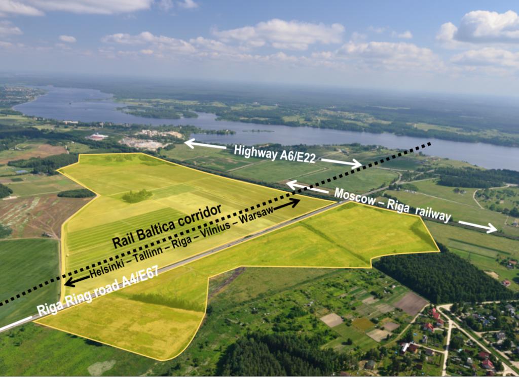 97ha komerczeme Salaspilī Rail Baltic apkalpojošā teritorijā