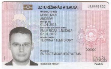 Termiņuzturēšanās atļauja Latvijā apliecība dokuments