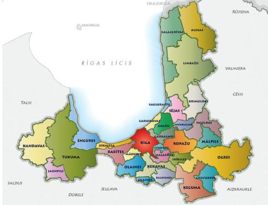 Rīgas reģions karte uzturēšanās atļaujām