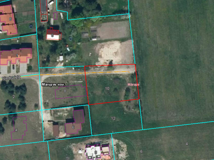Pārdod zemi Mārupē Niedru iela property in Marupe land for sale investment invest riga