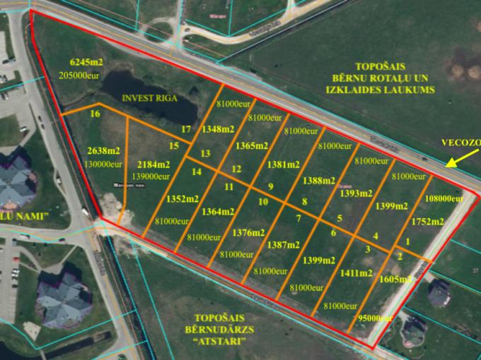 Pārdod zemi Mārupē Land for sale in Marupe