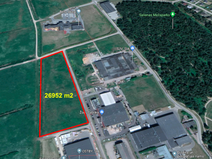 Pardod zemi Piņķos Saliena Investment land for sale in Pinki